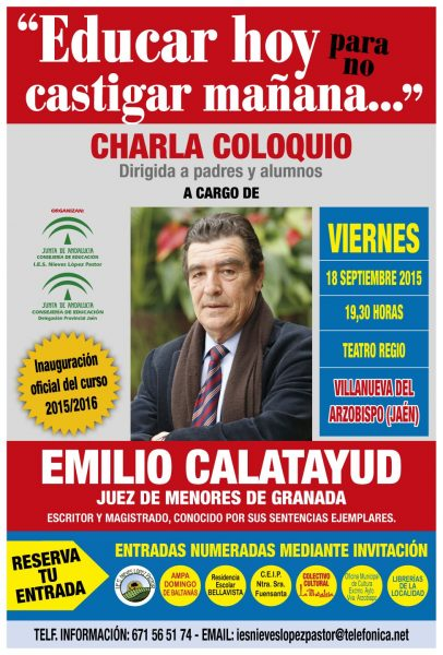 conferencia del Juez de menores, Emilio Calatayud,