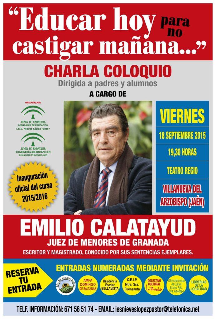 Interesante conferencia del Juez de menores, Emilio Calatayud, en Villanueva del Arzobispo.